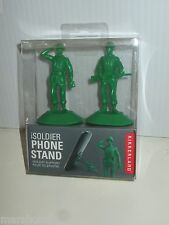KIKKERLAND LITTLE GREEN ARMY MAN SOLDIER PHONE DEVICE STAND iSOLDIER BOXED PAIR