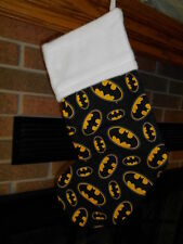 BATMAN LOGO HANDMADE CHRISTMAS STOCKING* FREE SHIP