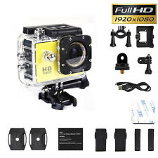 Action Sport Cam Camera Waterproof Full HD 1080p Video Helmetcam Yellow