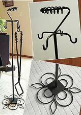 Wood Stove/Fireplace Implement Stand, Custom Length, Made in US by a Blacksmith