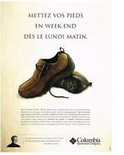 PUBLICITE ADVERTISING  2000   COLUMBIA  chaussures