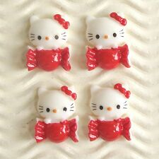"""US SELLER - 10 pcs x 3/4"""" Resin Candy Flatback Beads for Hello Kitty Craft SB562"""