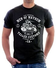 Original SAMCRO MEN OF MAYHEM TELLER Motorcycle Harley BLACK t-shirt 9621