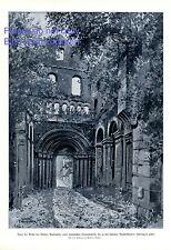 Ruine der Kirche Kloster Paulinzella XL Kunstdruck 1920 von Woldemar Krahmer +