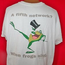 Vintage 90s THE WB Television Network WARNER BROTHERS Michigan J Frog T-SHIRT