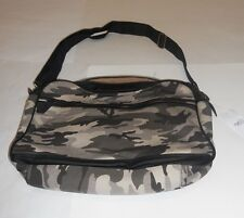 Nwt Mens Carbon Tan Camo Black Canvas Messenger Bag Sack