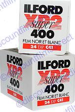 2 x ILFORD XP2 400 35mm 24exp C.41 PROCESS B&W FILM by 1st CLASS POST