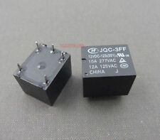 5pcs.Power relay SPDT,10A 277VAC/28VDC,JQC-3FF-012-1ZS HONGFA