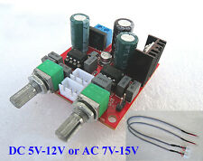 AC/DC 5V 12V NE5532 Subwoofer Low-pass Filter Amplifier Board Module 22Hz-280Hz