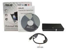 Asus SDRW-08D2S-U 8X USB 2.0 Ultra Slim External CD/DVD Writer Black Retail BOX