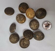 Ancient Order of United Workman Buttons 10 Pettibone 1 M.C. Lilley 1 Enamel Pin