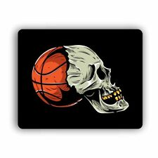 Basketball Skull Computer Gaming Mouse Mat Pad Desktop Laptop Sport