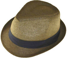 Straw Fedora 64cm 3xl Brown