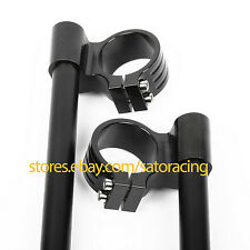 37mm Higher Raised Clip Ons CNC Fork Handle Bars For SUZUKI GS500 All Years