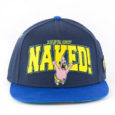 AWESOME 'LETS GET NAKED' SPONGEBOB SQUARE PANTS PATRICK SNAPBACK CAP HAT (NEW)