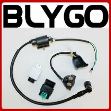Coil + CDI UNIT + Regulator + Solenoid 110cc 125cc PIT Quad Dirt Bike ATV Buggy