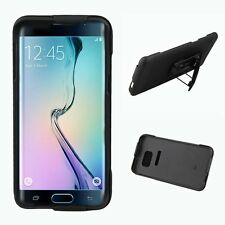 NEW KICKSTAND CASE COVER + BELT CLIP HOLSTER FOR SAMSUNG GALAXY S6 EDGE PLUS +
