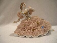 Antique Muller & Co Volkstedt Lace Figurine Dresden Porcelain Made in Germany