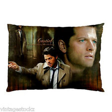 Castiel Angel Supernatural Season 10 Misha collins 2 Side Pillow Case Cover