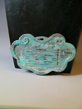 RARE, VERY LARGE, ANTIQUE CHINESE CARVED NATURAL TURQUOISE LOCK PENDANT