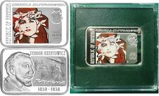 2010 Armenia Large Silver Color Proof 100 Dram/ Famous Painters-Axentowicz