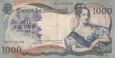 Billet banque PORTUGAL 1000 ESCUDOS 1967 MARIA II état voir scan 043