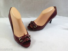 Etienne Aigner Xanto High Heel Peep Open Toe Pumps Womens Size 9 M