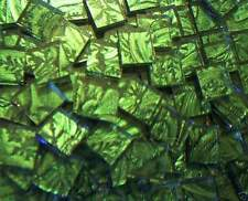 500 VAN GOGH Mosaic Glass Tiles SPRING GREEN Craft