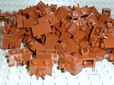 LEGO® 100 Steine 1x2 mit Clips vorne braun 30237 für Ritter Star Wars Neuware