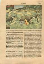 Actriz Ofelia RIVAS Actress Cuba Chien Dog Requin Shark Squalo 1925 ILLUSTRATION