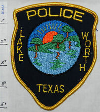 TEXAS, FORT WORTH POLICE DEPT GOLD EDGE PATCH