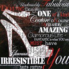 Studio 5: Irresistible You Fertig-Bild 30x30 Wandbild Mode Schrift