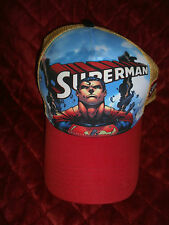 YOUTH DC COMICS SUPERMAN HAT CAP NEW WITH TAGS