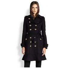 BURBERRY Littleton Navy Cashmere Virgin Wool Coat Jacket BNWT UK 4 IT 38 US 2