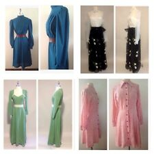 1950s / 1970s Vintage Lot Of 4 Women's Dresses Union Made / Day / Evening / Maxi