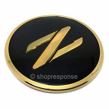 JDM Nissan 90-96 300ZX Fairlady Z Z32 Front Z Emblem Badge Black / Gold Genuine