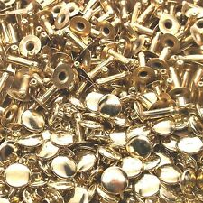 Brass Plated Medium Rapid Rivets 100 Pack 1273-11 by Stecksstore