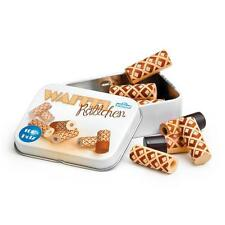 Wooden waffle rolls in a tin by Erzi pretend play grocery shop toy food kitchen