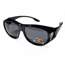 Polarized Womens Mens Large Fit Over Polarised Sunglasses Vintage 009A Black