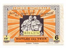 O895-LOTTERIA-FRANCE-LOTERIE NAZIONALE MUTILES DES YEUX