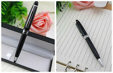 Classic Elegant Black Ball Point Pen - Platinum or Gold Plated- High quality