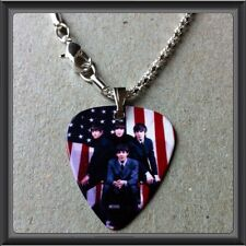 """THE BEATLES Guitar Pick WITH 16.5"""" SILVER PLATED SNAKE NECKLACE NEW"""