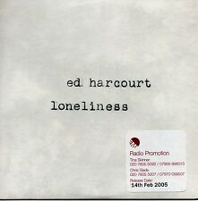 ED HARCOURT - LONELINESS - RARE 2005 PROMO CD SINGLE - CARD COVER