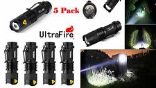 5 X Ultrafire Zoomable Cree 6000k 2000Lumen Mini LED Flashlight Torch Light Lamp