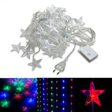 80 LED  Multicolor Star Curtain Strings Light Christmas Decorative Fairy Lights