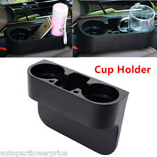 Universal Car Truck Between Seat 2 Cup Holder Water Bottle Holder Stand StorageU