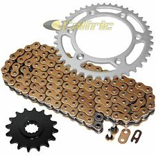 Gold O-Ring Drive Chain & Sprockets Kit Fits KTM 640 LC4 1999-2007