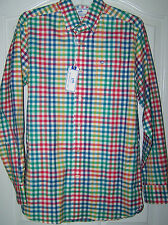 NWT SOUTHERN TIDE MEN LONG SLEEVE FIRE MULTI COLOR SHIRTS SIZE SMALL