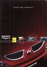 Renault Megane Coupe & Cabriolet 2001-02 UK Market Sales Brochure