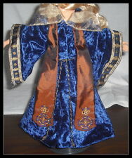 OUTFIT KEN (B) MATTEL DOLL MERLIN THE MAGICIAN BLUE CRUSHED VELVET ROBE & HAT (B